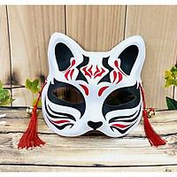 Mặt nạ cáo, hóa trang Cosplay Nhật Bản màu đen đỏ trắng