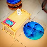 Bàn trà - bàn ăn + gối ngồi bệt