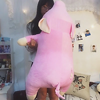 Gấu bông siêu to khổng lồ Lợn hồng ngủ ngộ nghĩnh