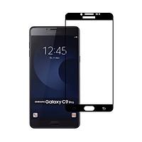 Miếng Dán Kính Cường Lực cho Samsung Galaxy C9_C9 Pro - Full màn hình - Màu Đen - Hàng Chính Hãng