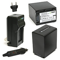 Combo 2 Viên Pin Và Sạc Đôi WASABIFV100 FP100 FV50Cho Sony Camera - Hàng Nhập Khẩu