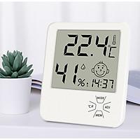 Đồng hồ đo nhiệt độ ẩm để bàn thông minh trong phòng khách, phòng ngủ lx81111( Chính xác, an toàn)- Tặng 2 móc treo đồ dán tường ngẫu nhiên