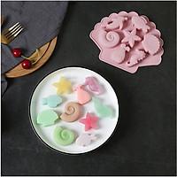 Khuôn 3D Sinh Vật Biển Silicone Hình Khuôn Vỏ Ốc Xà Cừ Trang Trí Bánh Dụng Cụ Fondant Chocolate Cookies