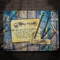 Album Ảnh Tự Trang Trí Love Story (19 x 26 cm) - Xanh