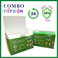 Combo Tiết Kiệm - 2 hộp Khẩu Trang Trẻ Em kháng khuẩn 4M ForMankind màu trắng - Thương hiệu 4M - Chuẩn quốc tế, lọc bụi, lọc khuẩn BFE - VFE - PFE >99%, kiểm định bởi Nelson Labs (Mỹ) - Đóng gói riêng từng cái