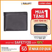 Ví Nam Da Bò Galaxy Store GVN01 - Đen (12.5 x 9.5 cm)