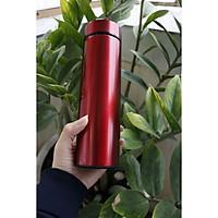 Bình nước giữ nhiệt nắp tròn có lọc trà màu đỏ dung tích 500ml, giữ nhiệt siêu lâu, siêu bền