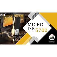 Micro thu âm cao cấp ISK S700 - Mẫu micro chuyên nghiệp mới nhất đến từ ISK – Mic thu âm chuyên nghiệp dành cho phòng thu, livestream, karaoke online - Hàng chính hãng