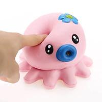 Squishy bạch tuộc 15cm,chậm tăng mùi thơm dịu nhẹ, đồ chơi cho bé trai và bé gái