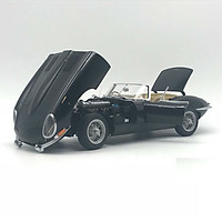 Xe Mô Hình Jaguar E-Type Roadster Series I 3.8 (Black)(With Metal Wire-Spoke Wheels) 1:18 Autoart - 73605 (Đen)