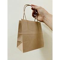 100 Túi giấy kraft Nhật có quai 13x8x15cm K2050
