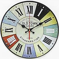 Đồng hồ treo tường Vintage Phong cách Châu Âu size to 30cm DH30