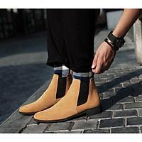 Giày nam Chelsea Boots Da Bò Lộn Cao Cấp Đế Cao Su Kiểu Dáng Đường Phố BẢO HÀNH 12 THÁNG Tặng Kèm Lót Phụ Kiện Của Boots