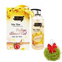 Sữa tắm toàn thân body mềm da hương cánh hoa Chính Hãng - MONLY  (800ml x 1 chai)