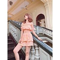 Đầm chun eo caro cam vàng Dana dress Gem Clothing SP060386