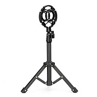 muslady Tabletop Microphone Tripod Stand Desktop Mic Stand Metal Mic Tripod with Mic Holder for Streaming Recording