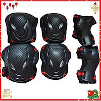 Bộ giáp bảo hộ tay chân dùng trượt patin , bảo hộ xe đạp , trượt ván gồm 3 món, bảo hộ tay, gối và khuỷu tay chuyên nghiệp thích hợp cân nặng từ 10 - 90 kg