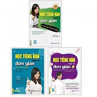 Combo Học Tiếng Hàn Thật Là Đơn Giản: Dành Cho Người Mới Bắt Đầu + Trong Giao Tiếp Hàng Ngày + Trình Độ Trung Cấp (Học tiếng Hàn siêu nhanh/ Tặng kèm bookmark thiết kế)