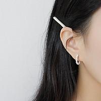 Hoa tai chữ c đính ngọc trai phong cách cổ điển dễ thương hàn quốc-HTB0009