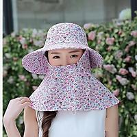 Mũ thô HOA khăn che mặt chống nắng tốt chất lượng siêu thích