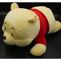 Gấu Bông/ Thú Nhồi Bông Gấu POOH Nằm 33cm (Tặng kèm móc khóa da bò thật màu ngẫu nhiên) BA00158