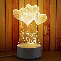 Đèn ngủ - đèn LED 3D họa tiết