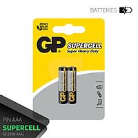 Pin đũa GP Supercell AAA 1.5V (2 viên),Pin AAA GP,Pin chuột máy tính,Pin điều hoà,Pin điều khiển quạt,Pin điều khiển tivi,Pin sử dụng cho các thiết bị nhỏ,Pin đồng hồ treo tường,Pin đồ chơi điện tử trẻ em