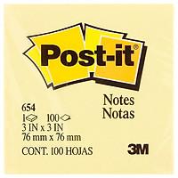 Giấy Ghi Chú 3M-654 Post-it 3x3 Inch (100 Tờ)