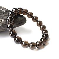 Vòng tay phong thủy đá thạch anh khói 10 ly đá tự nhiên màu đen có kiểm định chất lượng hợp mệnh kim mệnh thủy