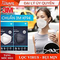 Khẩu trang y tế 3M 9013 chuẩn KF94 chống dịch, ngăn ngừa bụi mịn PM2.5 - 2 màu trắng đen tương đương khẩu trang N95