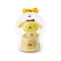 Sanrio Móc khóa búp bê trẻ em trang trí hình chú chó đáng yêu kết hợp với ngôi sao nhỏ trong quả cầu thạch anh màu vàng chủ đề Giáng sinh