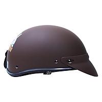 Mũ Bảo Hiểm 1/2 Đầu Chita CT6B1 Tem Brown-Cony (Size M)