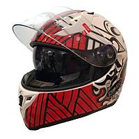 Mũ Bảo Hiểm Fullface 2 Kính Protec Racing  Chuyên Phượt Xa, Thời Trang, Cá Tính, Thoáng Khí, An Toàn - Hàng Chính Hãng