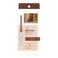 Bút Chì Kẻ Mắt Love Liner Pencil Eyeliner Ash Brown Màu Nâu Tro, Bột Mịn, Chống Mồ Hôi, Kiềm Dầu