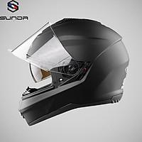 Mũ bảo hiểm fullface trùm đầu 2 kính SUNDA 823 – vệ sĩ chống tia cực tím