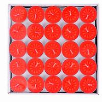 Nến tealight không mùi không khói thời gian cháy 2 giờ (100 viên) - Đỏ