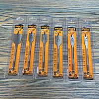Bộ 6 Mũi khoan gỗ đầu dẹp 14,16,20,22,25,30mm Ingco