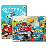 Bộ 2 tranh xếp hình 30 mảnh ghép, đồ chơi trí tuệ cho bé từ 3 tuổi. Sản xuất tại Việt Nam. Kích thước A4.