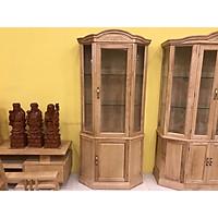 Tủ rượu gỗ sồi lục giác