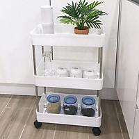 Kệ nhựa để đồ đa năng cao cấp- kệ nhiều ngăn- kệ trang trí- kệ nhà tắm có bánh xe