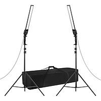 Professional Photography Studio LED Lighting Kit with 2pcs 3200-5500K Bi-color Dimmable LED Video Light Bar Strip Light