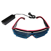 Led Glasses 15 Colors Optional Light Up El Wire Neon Rave Glasses Twinkle Glowing Party Club Holiday Bar Decorative