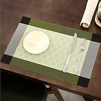 Combo 2 Tấm lót bàn ăn sọc caro viền đậm KT 30x45cm - LC05