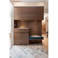 Tủ bếp gỗ trang trí nội thất cao cấp (mã TK018)