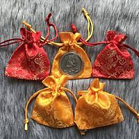 Combo 5 xu hình con chuột MÔNG CỔ tặng túi gấm sang trọng - Quà tặng lì xì tết cho người thân, bạn bè TMT COLLECTION -MS 340