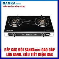 Bếp Gas Đôi Tiết Kiệm Gas SANKAtech 727BB - Sen Đồng Thau - Hàng chính hãng