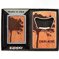 Bật Lửa Zippo 49066 – Zippo WOODCHUCK USA Lighter & Bottle Opener Gift Set