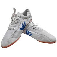 Giày đinh vải đá bóng nam Thượng Đình (trắng)