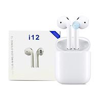 Tai Nghe Bluetooth không dây i12 - 5.0, Nhỏ Gọn, Tiện Lợi, Cảm ứng tay -Hàng Nhập Khẩu