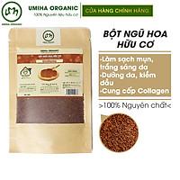 Bột Hạt Ngũ Hoa hữu cơ UMIHOME (35g) nguyên chất, mặt nạ bột đắp mặt dưỡng trắng da ngăn ngừa mụn thâm nám hiệu quả tại nhà